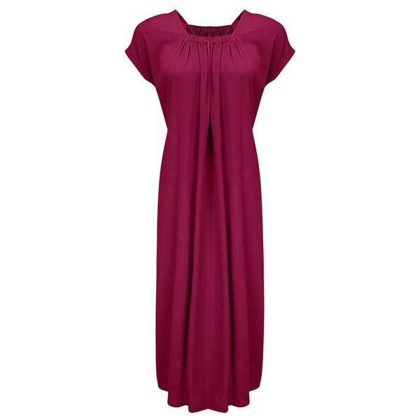 پیراهن زنانه مدل BR011 رنگ زرشکی