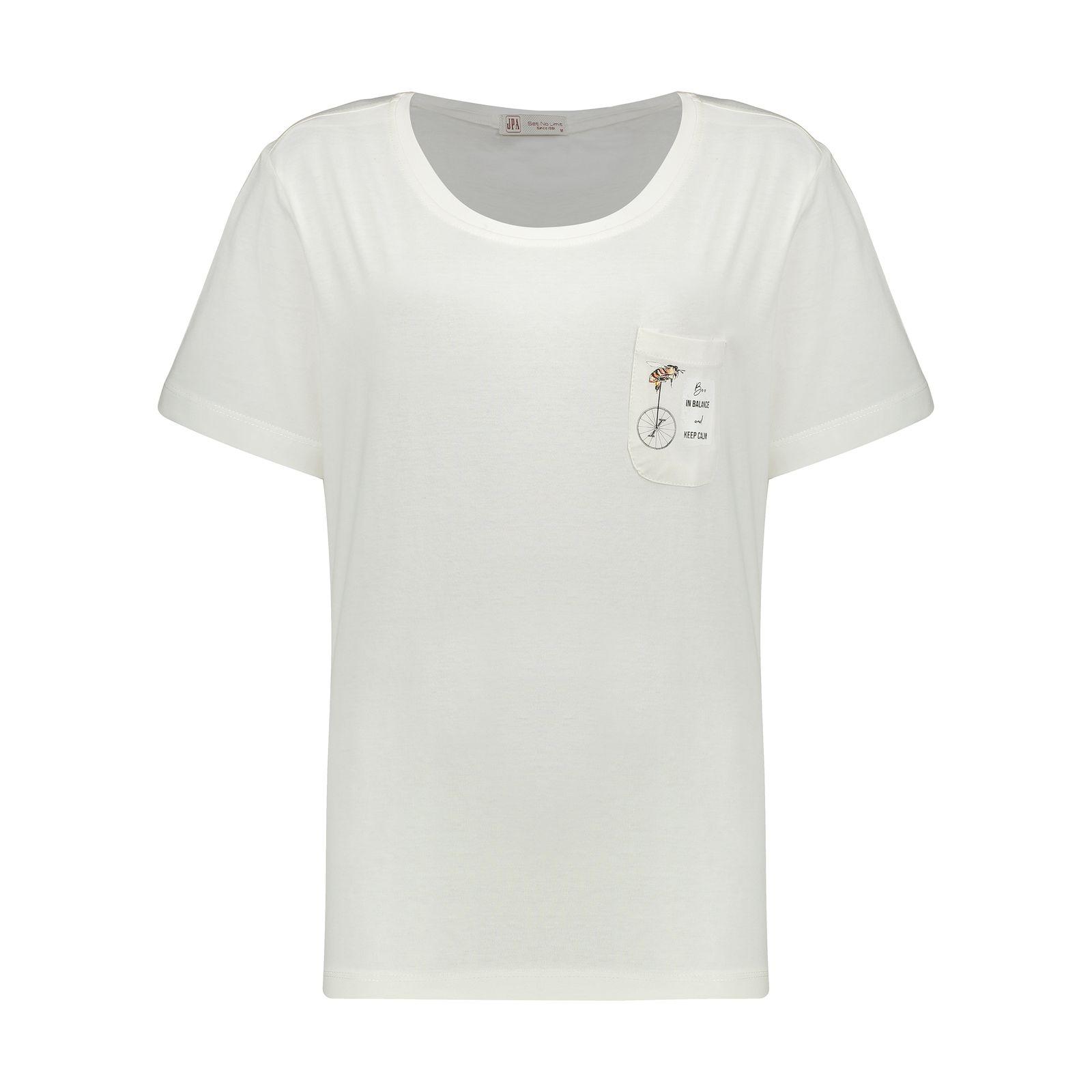 تی شرت زنانه جامه پوش آرا مدل 4012019475-05 -  - 2