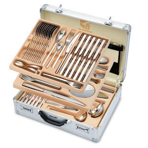 سرویس قاشق و چنگال 142 پارچه جی فی نی مدل 605-LUXURY