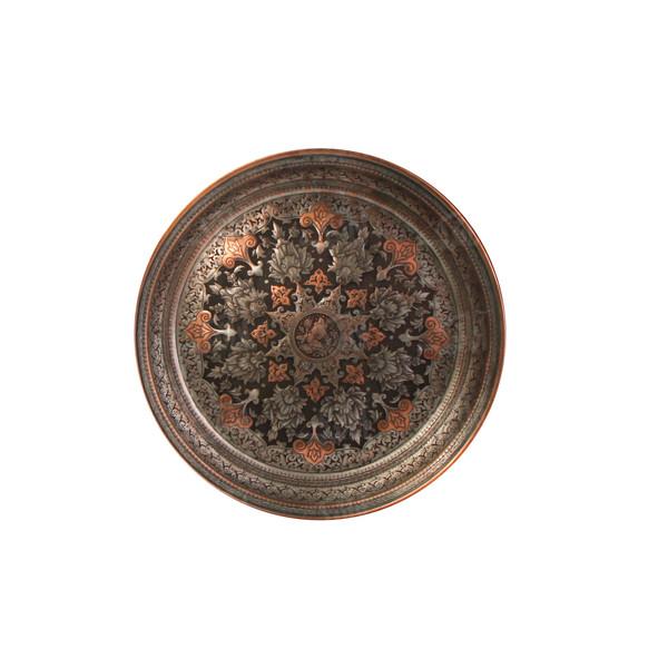 قاب نفیس قلمزنی روی مس  نقره ای طرح شاه عباسی  مدل 1121700003
