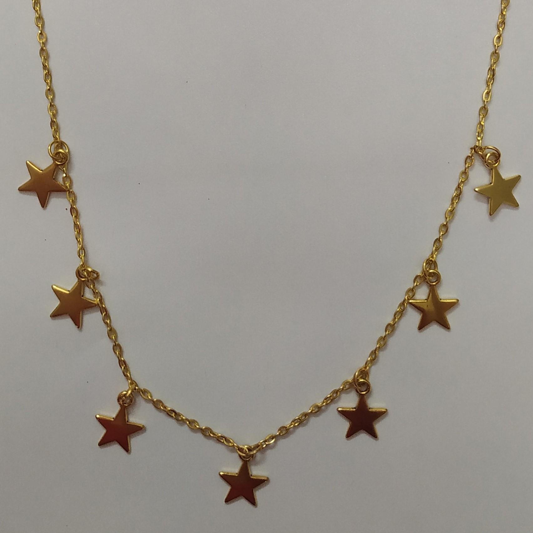 گردنبند مدل ستاره کد HN1605