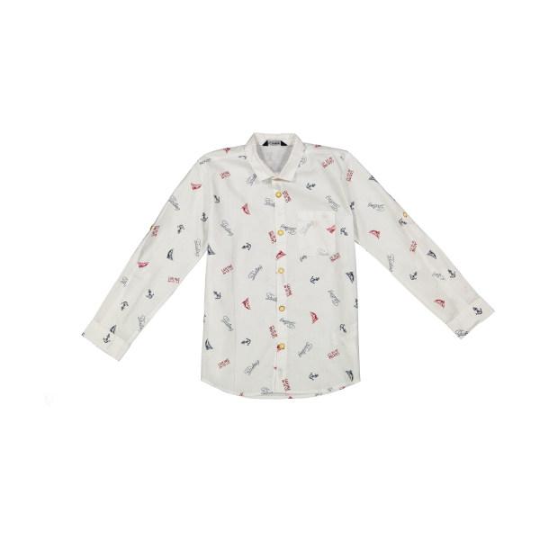 پیراهن پسرانه ال سی وایکیکی مدل 0SN630Z4-WHITE
