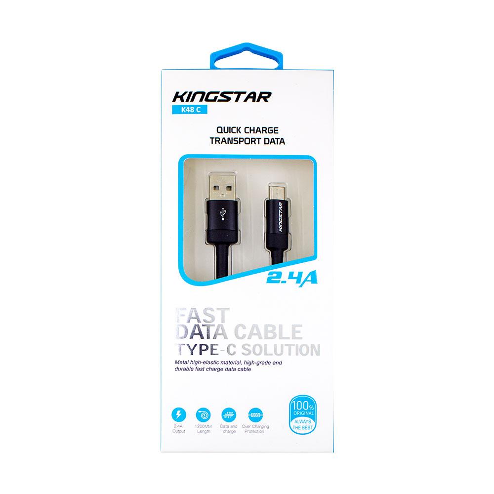 کابل تبدیل USB به USB-C کینگ استار مدل K48 C طول 1.2متر