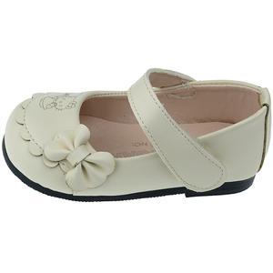 کفش دخترانه مدل پاپیون کد 149رنگ کرم