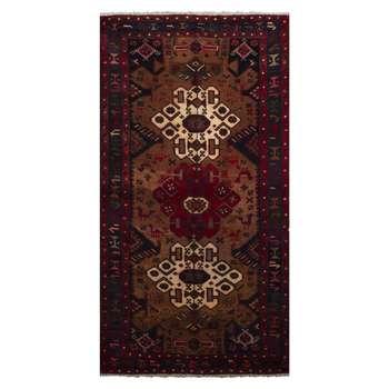 فرش قدیمی دستباف دو و نیم متری طرح عشایری مدل H44