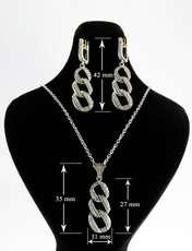 نیم ست نقره زنانه کد AV043-2 -  - 5