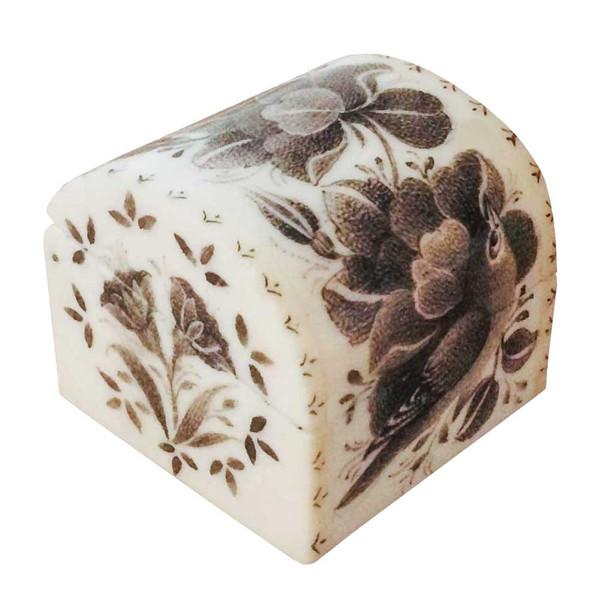 جعبه جواهرات استخوانی طرح گل و مرغ کد B 226