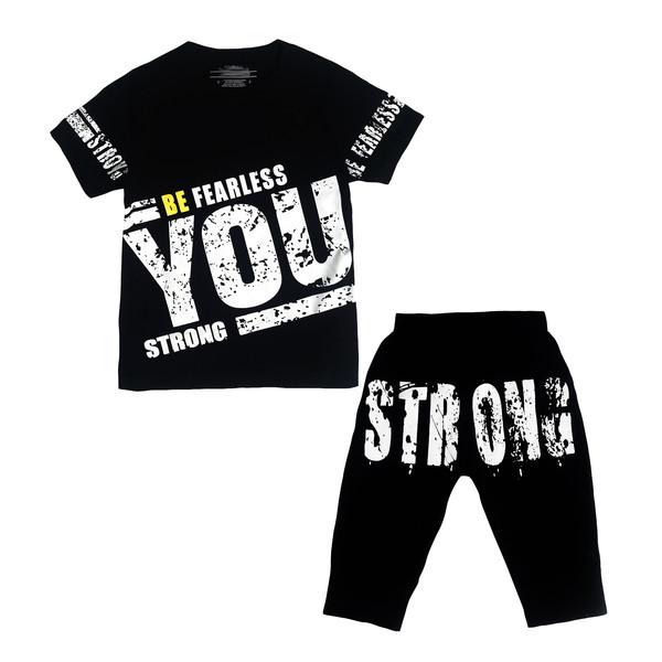 ست تی شرت و شلوارک بچگانه کد 10101-1