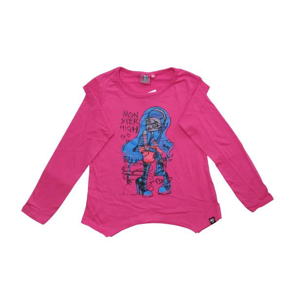 تی شرت آستین بلند دخترانه مانستر های مدل 11-19-19
