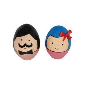تخم مرغ تزیینی مدل آقا و خانم مجموعه 2 عددی