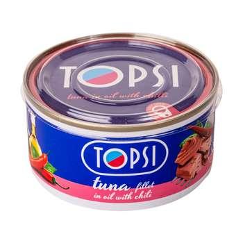کنسرو ماهی تاپسی با طعم فلفل - 180 گرم