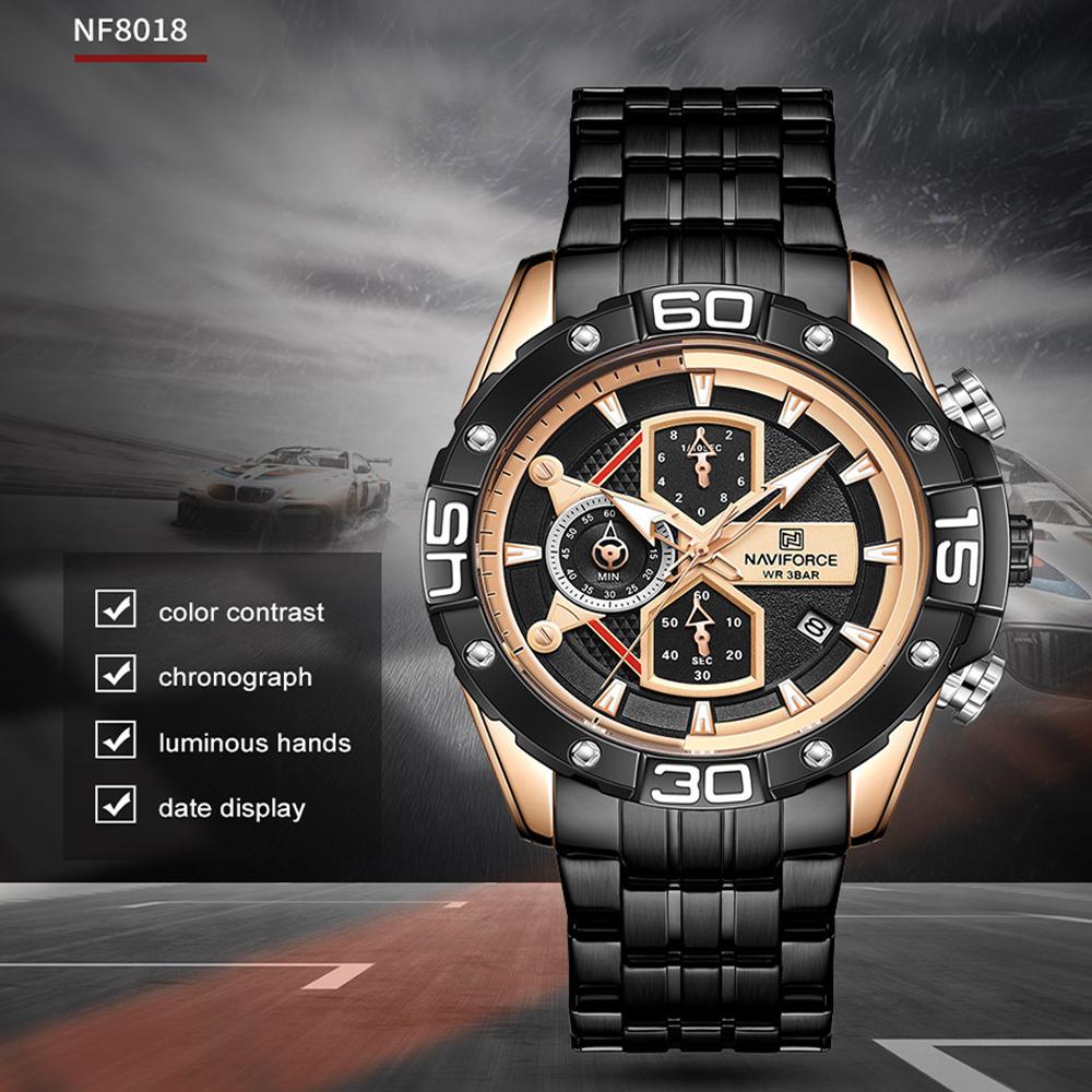 ساعت مچی عقربهای مردانه نیوی فورس مدل NF-8018-B-R