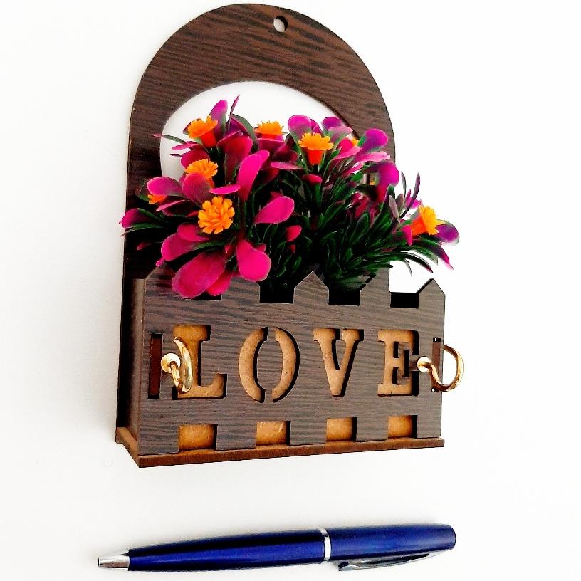 خرید                      جا کلیدی طرح گلدان کد 110