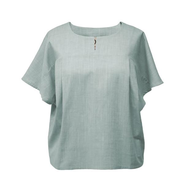 بلوز زنانه دِرِس ایگو کد 1060030 رنگ سبز پاستلی