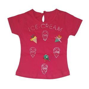 تی شرت آستین کوتاه دخترانه کد 5555TSO