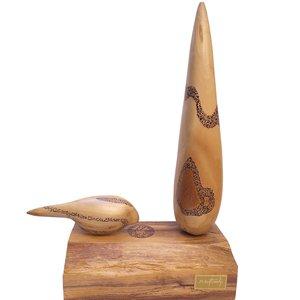 مجسمه طرح درخت سرو و پرنده کد 0061