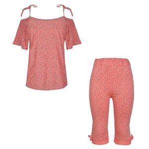 ست تی شرت و شلوارک زنانه مدل 358034306