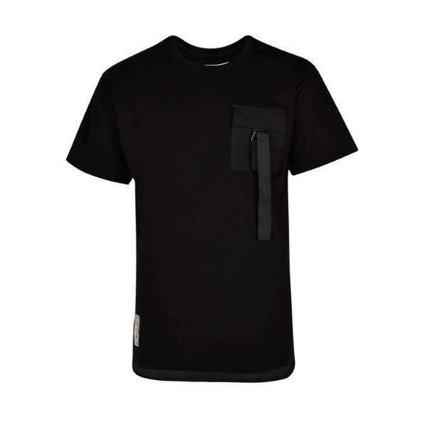 تیشرت آستین کوتاه مردانه بادی اسپینر مدل 1501 کد 1 رنگ مشکی