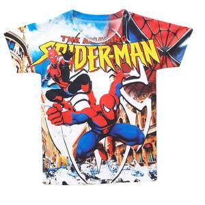 تی شرت پسرانه طرح مرد عنکبوتی کد PT02