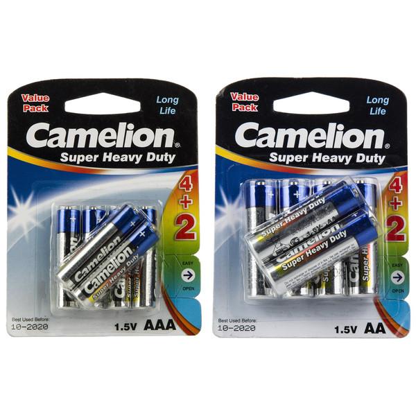 باتری قلمی و نیم قلمی کملیون مدل Super Heavy Duty بسته 12 عددی
