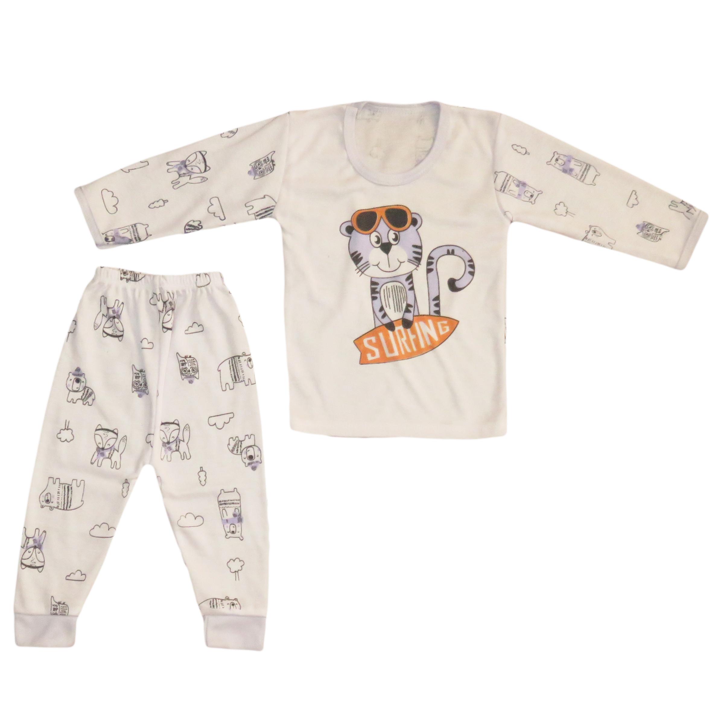 ست تی شرت و شلوار نوزادی مدل 110