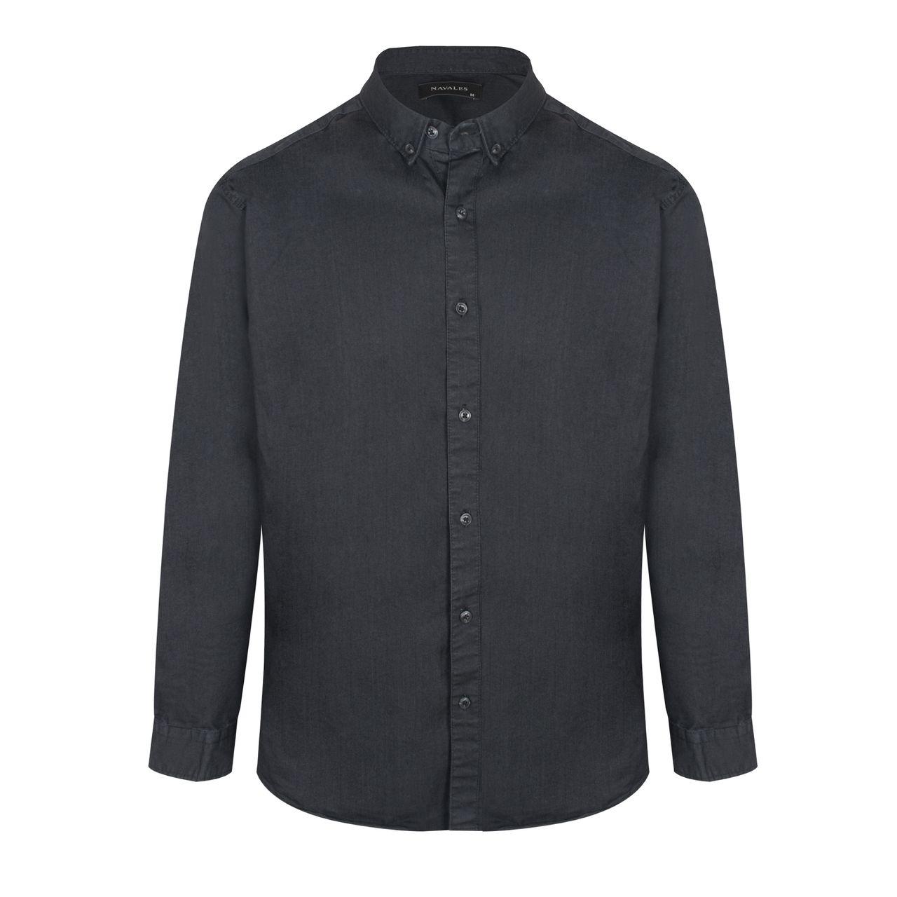 پیراهن آستین بلند مردانه ناوالس مدل IMPERIA
