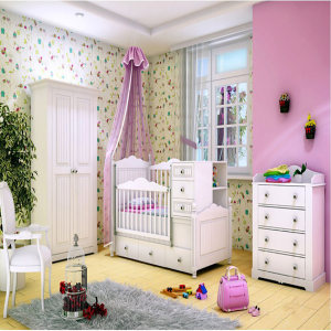 سرویس تخت و کمد کودک و نوزاد مدل دیبا کد1020 چهار تکه