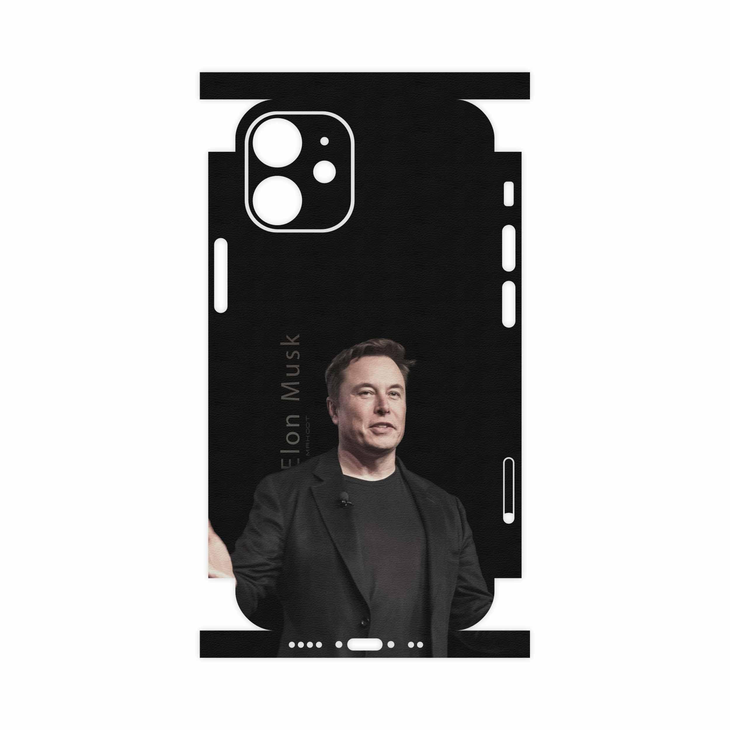 برچسب پوششی ماهوت مدل Elon Musk-FullSkin مناسب برای گوشی موبایل اپل iPhone 12 mini