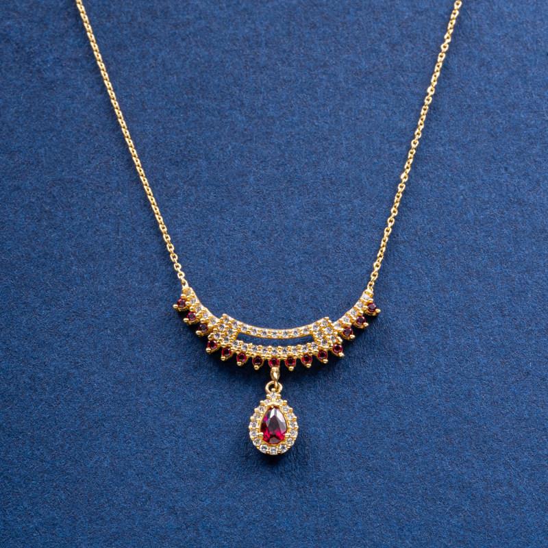 نیم ست طلا 18 عیار زنانه جواهری سون مدل 2795