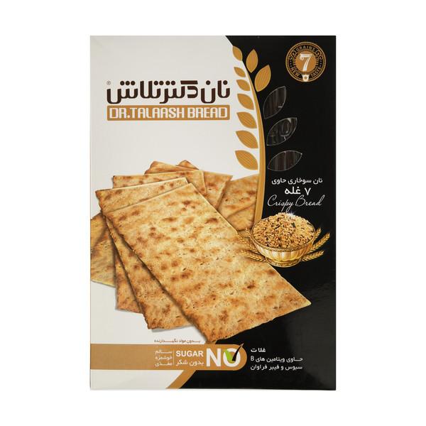 نان سوخاری هفت غله نان دکتر تلاش - 400 گرم