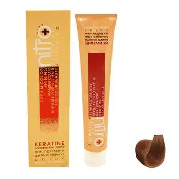 رنگ مو نیترو سری Keratine شماره 8.65 حجم 100 میلی لیتر رنگ بلوند تنباکویی روشن