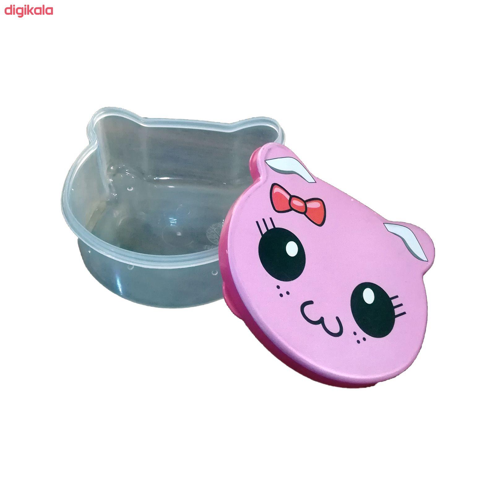 ظرف نگهدارنده غذای کودک مدل گربه شاد کد 013 مجموعه 4 عددی main 1 2