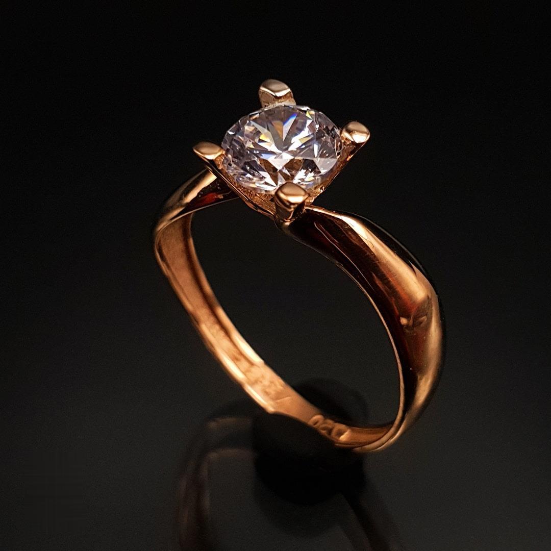 انگشتر طلا 18 عیار زنانه مدل 1ER1756