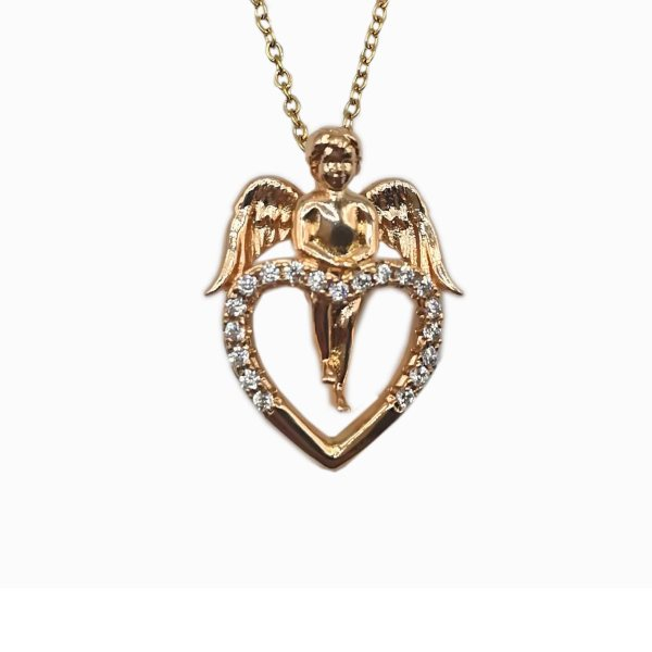 گردنبند زنانه ژوپینگ مدل فرشته و قلب کد 18