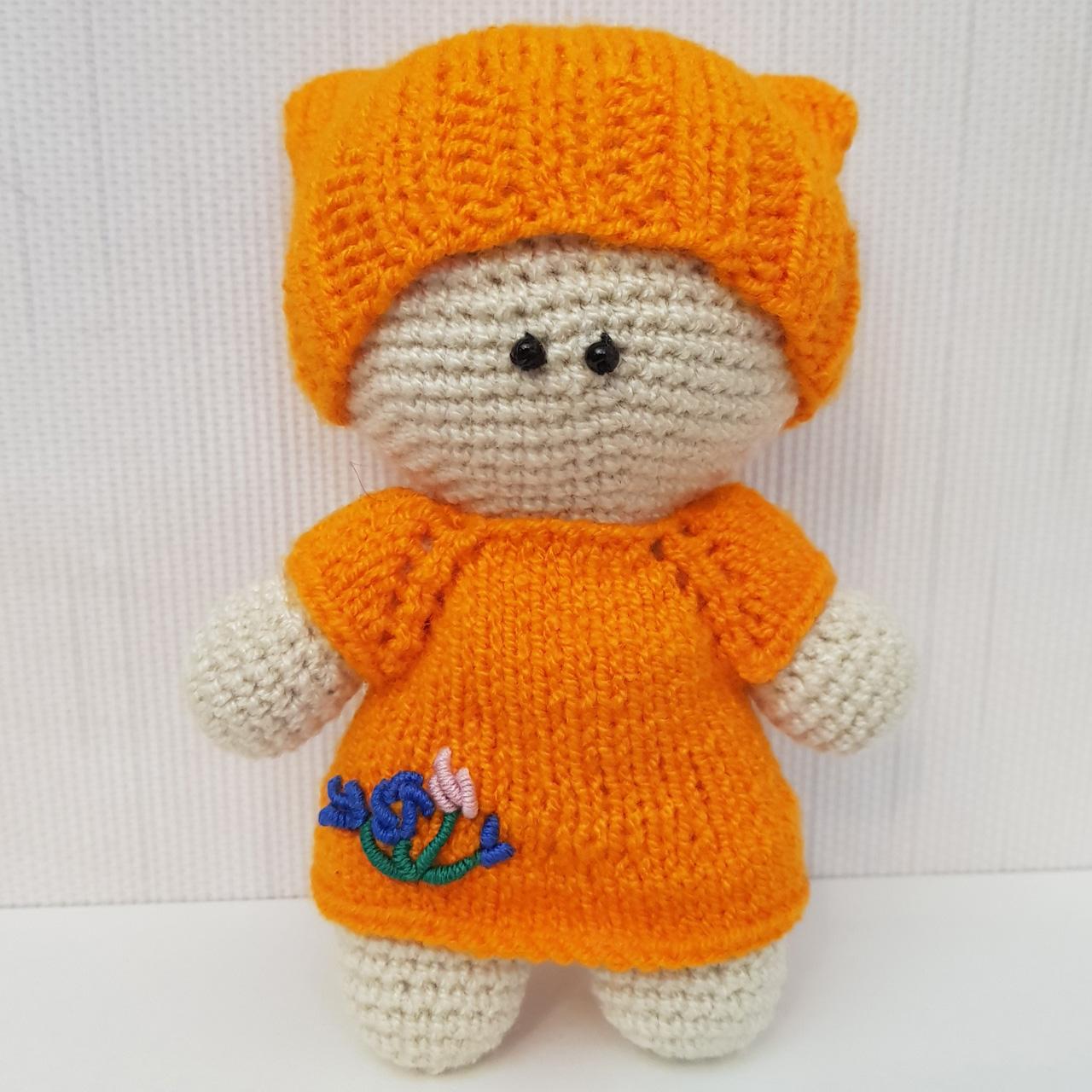خرید                      عروسک بافتنی طرح بچه کد 27