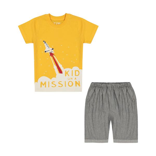ست تی شرت و شلوارک پسرانه سون پون مدل 1391571-16