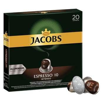 کپسول قهوه اسپرسو اینتنسو جاکوبز بسته 20 عددی