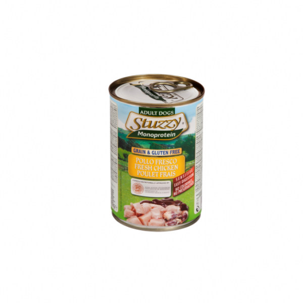 کنسرو غذای سگ استوزی مدل مرغ وزن 400 گرم