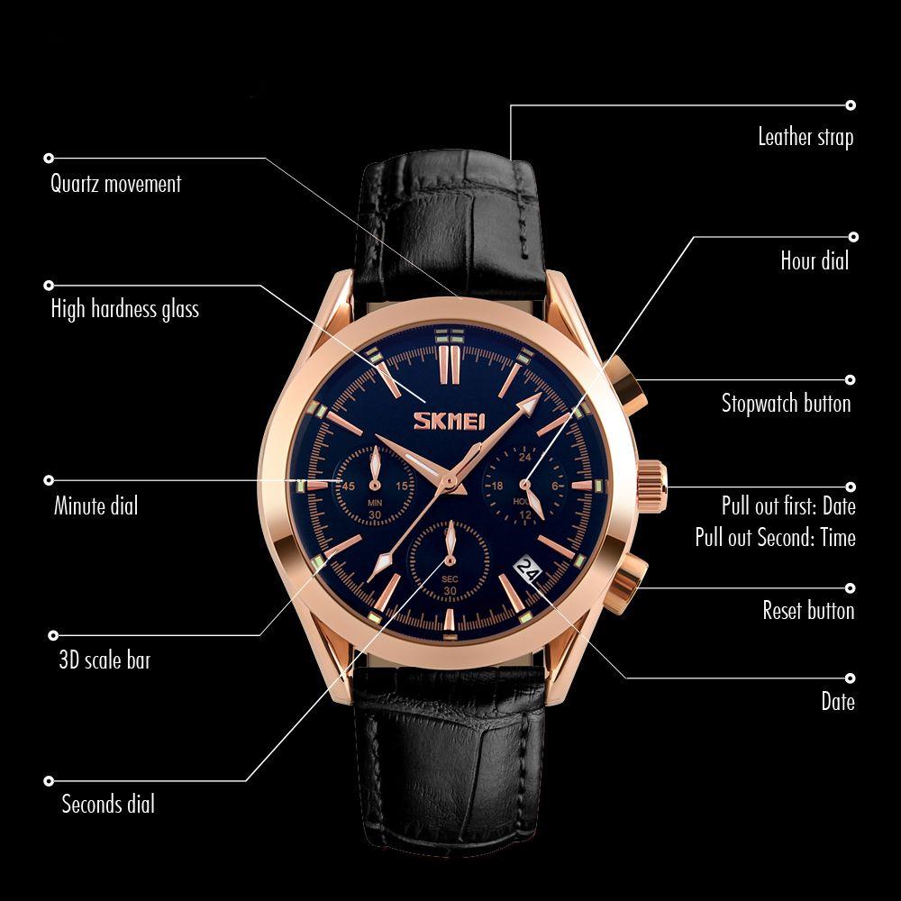 ساعت مچی عقربه ای مردانه اسکمی مدل 9127M-NP -  - 4