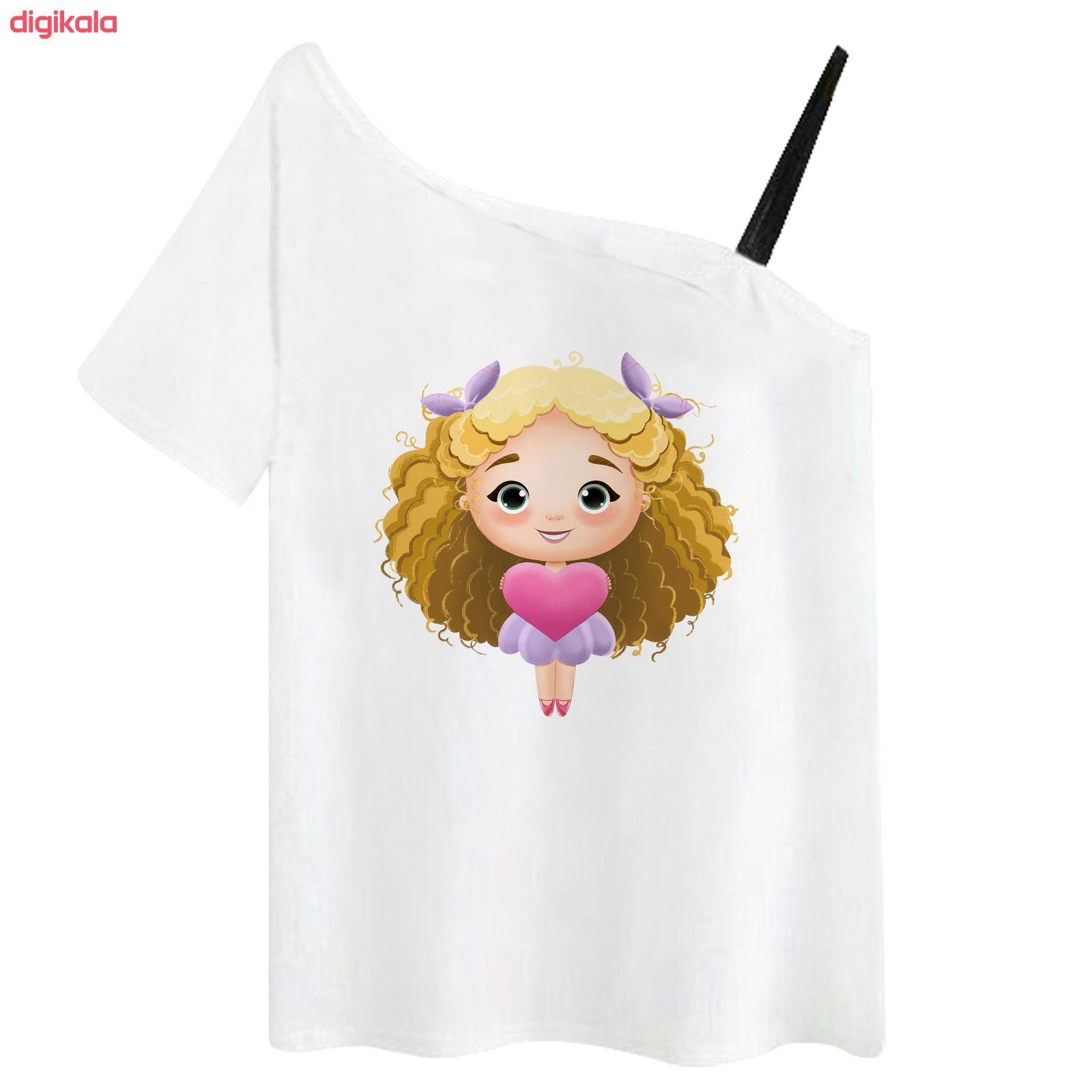 تی شرت آستین کوتاه زنانه مدل RR991106-001 main 1 1