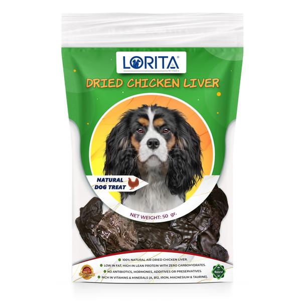 غذای تشویقی سگ لوریتا مدل DRIED CHICKEN LIVER وزن 50 گرم