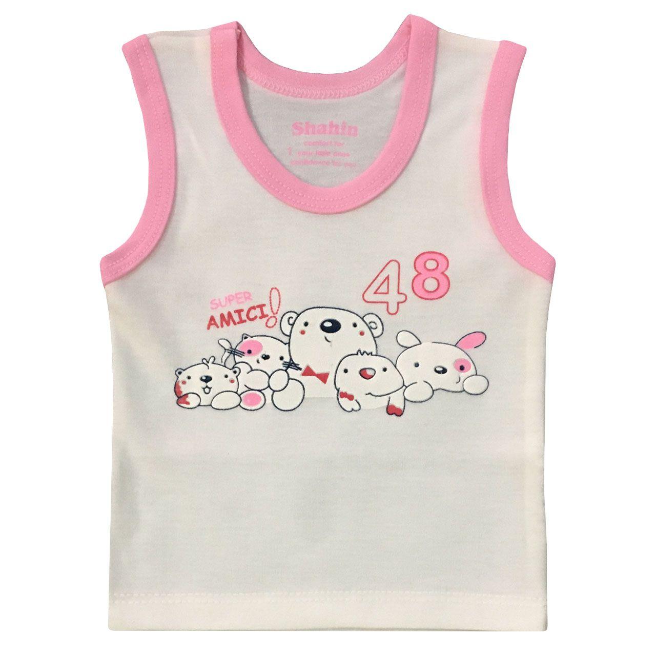 ست 3 تکه لباس نوزادی دخترانه شاهین طرح امیکی کد R -  - 3
