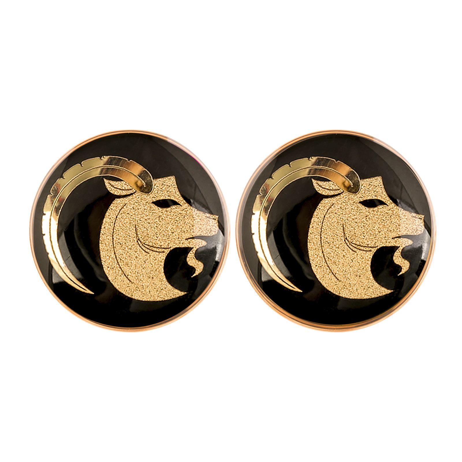 دکمه سردست مردانه الون طرح نماد ماه دی -  - 5