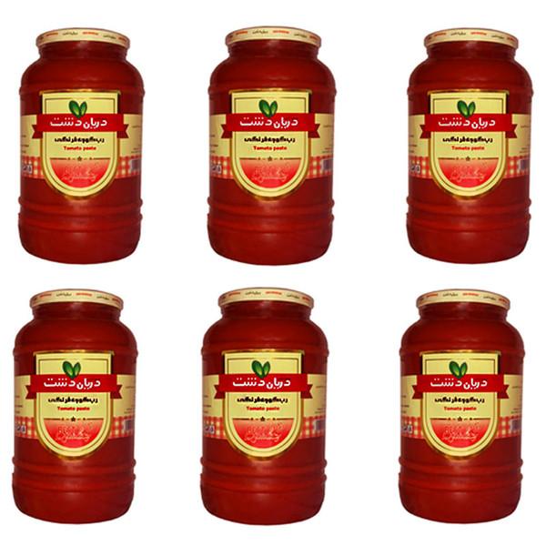 رب گوجه فرنگی دریان دشت  - 1550 گرمی بسته 6 عددی