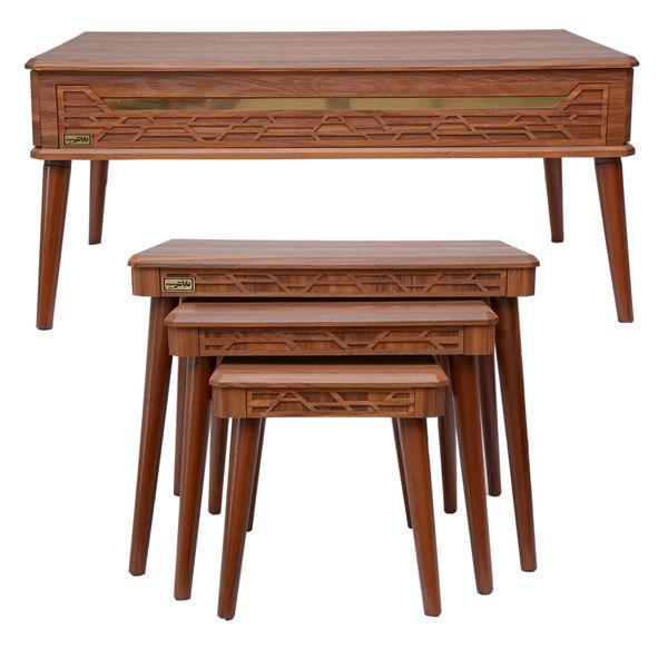 میز پذیراییباراش مدل لارن مجموعه 4 عددی