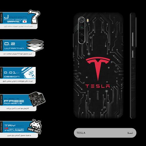 برچسب پوششی ماهوت مدل TESLA-Motors-FullSkin  مناسب برای گوشی موبایل شیائومی Redmi Note 8T