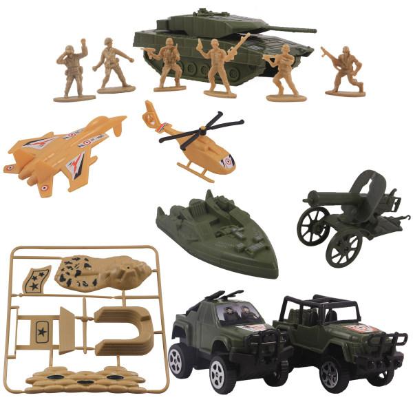 اسباب بازی جنگی مدل سربازان مجموعه 24 عددی