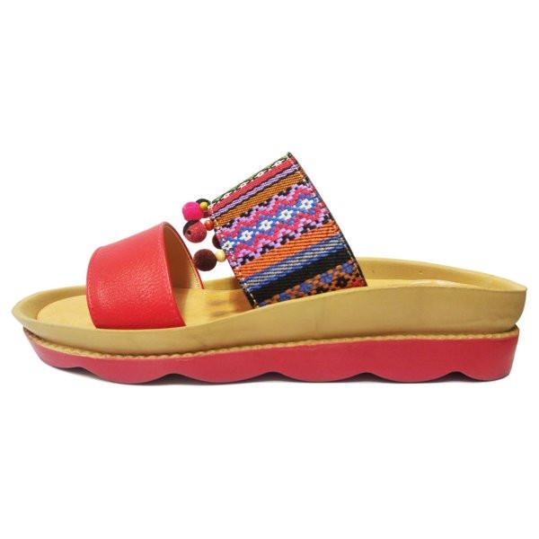دمپایی زنانه زرپای کد 4-558 رنگ قرمز