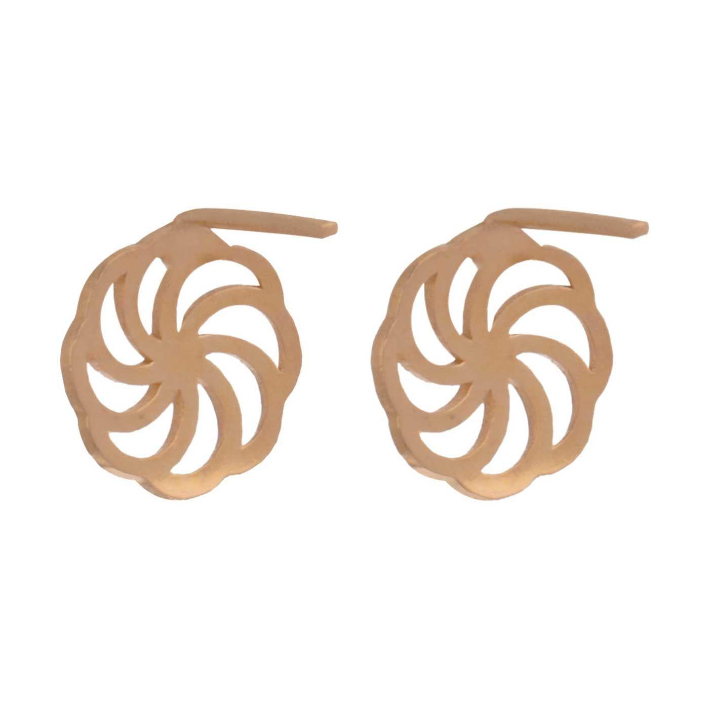 گوشواره طلا 18 عیار زنانه کانیار گالری کد GOA104 -  - 5