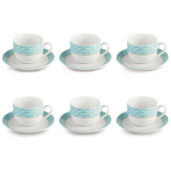 سرویس چای خوری 12 پارچه چینی زرین ایران سری ایتالیا اف مدل آتن درجه عالی